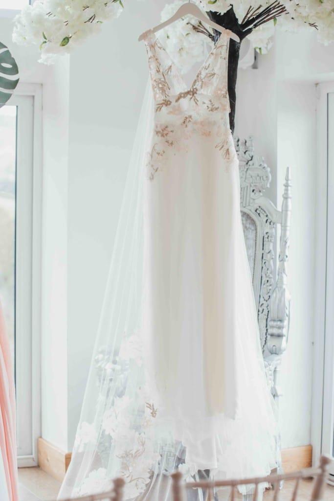 perfect fit bespoke wedding dress photoshoot